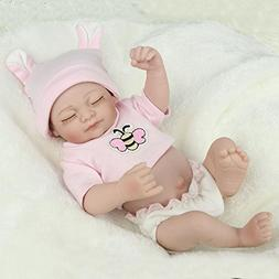 Full Body Silicone Reborn Baby doll Vinyl Soft 10 inches Bab