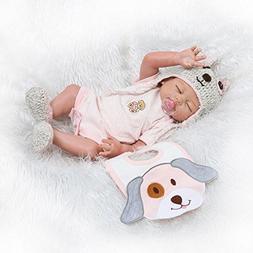 Pinky 50cm 20Inch Vinyl Silicone Full Body Girl Doll Newborn