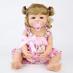 55cm Full Silicone Vinyl Reborn Baby Doll Princess Blonde Ha