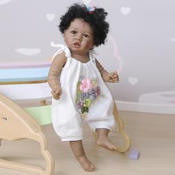 SimYun 22' African American Reborn Baby Dolls Soft Full Body