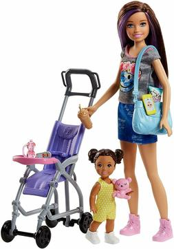 Barbie Skipper Babysitters Inc Doll and Stroller Playset FJB