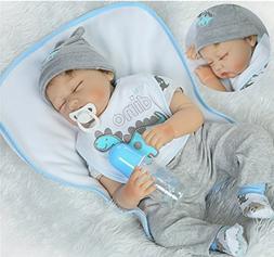 Sleeping Reborn Baby Dolls Boy 22inch Soft Vinyl Silicone Do