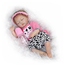 NPKDOLL Reborn Baby Doll Soft Simulation Silicone Vinyl Clot