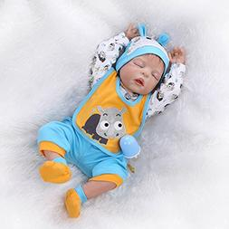 Sleeping Reborn Baby Dolls Boys Silicone Full Body 22 Inches