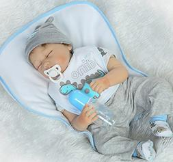 NPK Sleeping Reborn Baby Dolls baby boy 22 Inches Soft Silic