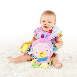 HBOS Soft Activity Toy,Baby Plush Doll Developmental Toys fo