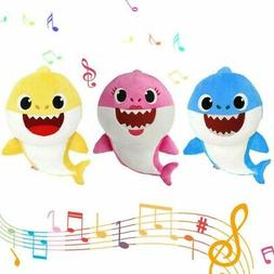 Soft Doll Baby Shark With Music Cute Animal Stuffed Plush Ba