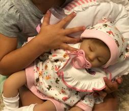 Soft Silicone Reborn Baby Dolls Vinyl Newborn Girl Handmade