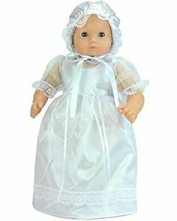 Sophia's 15 Inch Baby Doll Dress, Perfect for Christening, B