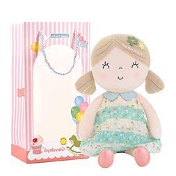 Gloveleya Baby Doll Girl Gifts Wearing Spring Dress Plush Cl