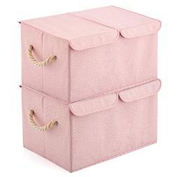 EZOWare Large Storage Boxes  Large Linen Fabric Foldable Sto