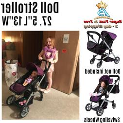 Baby Girl Doll Stroller Toddler Accessories Combo Deluxe Ext