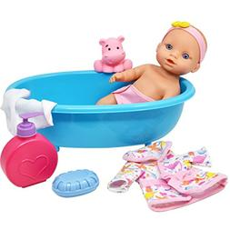 Baby Doll Bathtub Set Featuring 10 Inch All Vinyl Doll, Blue
