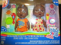 NEW Baby Alive Super Snacks Snackin' TWINS LUKE AND LILY AFR