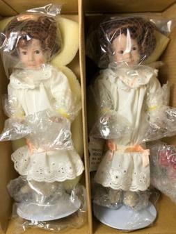"The Ashton Drake Galleries 2 Twin Girls 8"" Dolls"