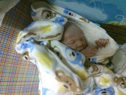 Therapy reborn baby doll PREEMIE boy closed eyes Bountiful b