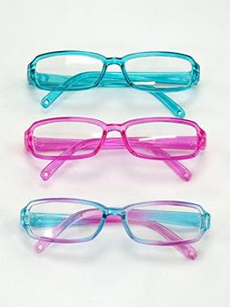 """Three Pairs Multicolored Reading Glasses 