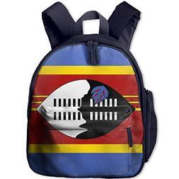 Amkong Toddler Backpacks for Boys Girls,Flag of Swaziland Ki