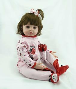 24Inch 60cm Reborn Baby Girl Dolls Realistic Looking Newborn
