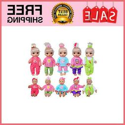 Total 10-Sets Doll Clothes Outfits Accessories for for 10-in