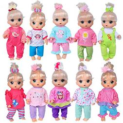 total 10 sets doll clothes outfits accessories