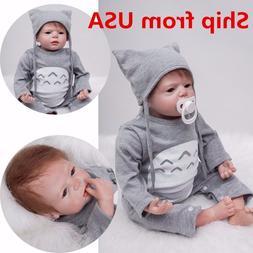 US 22'' Handmade Reborn Toddler Dolls Lifelike Baby Silicone