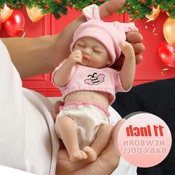 US Lifelike Reborn Baby Dolls Newborn Baby Vinyl Silicone Gi