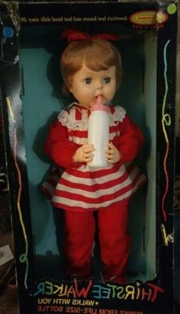 "Vintage 1962 NIB 27"" Walker Baby Doll Thirstee Walker Never"