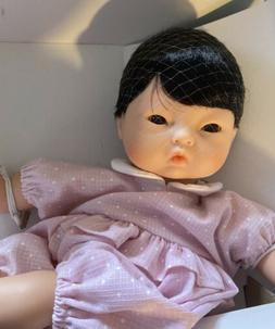 "Vintage Corolle Asian Baby Calin Doll 12"" Made In France 200"