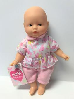 "Corolle Vintage Mini Baby Doll Toy 8"" Les Minis in Floral On"