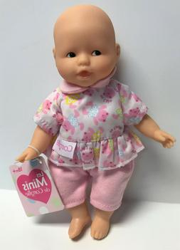 "Corolle Vintage Mini Baby Doll Toy 8"" Les Minis Teddy Print"