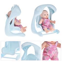 Vinyl Mini Simulation Emoji Doll Stroller Baby Dolls Cradle