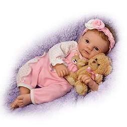 Violet Parker So Truly Real Baby Doll with Plush Teddy Bear