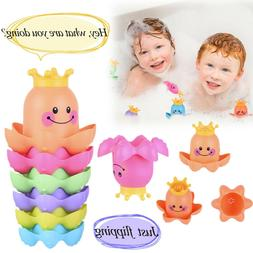 Waterfall Octopus Stacking Cups Baby Bath Toy Ocean Stack Cu