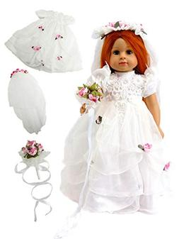 """Wedding Dress with Pink Flowers 