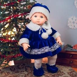 "Queen's Treasures WINTER BLUE OUTFIT for 15"" American Bitty"