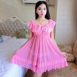 Women's lace Baby Dolls Sexy Lingerie Sexy Sleepwear Underwe