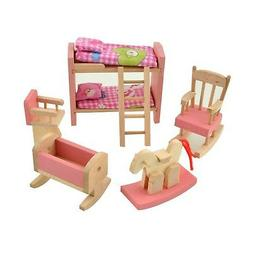 Dreams-Mall Wooden Doll House Furniture Set Toy for Baby Kid