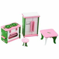 SODIAL Baby Wooden Dollhouse Furniture Dolls House Miniature